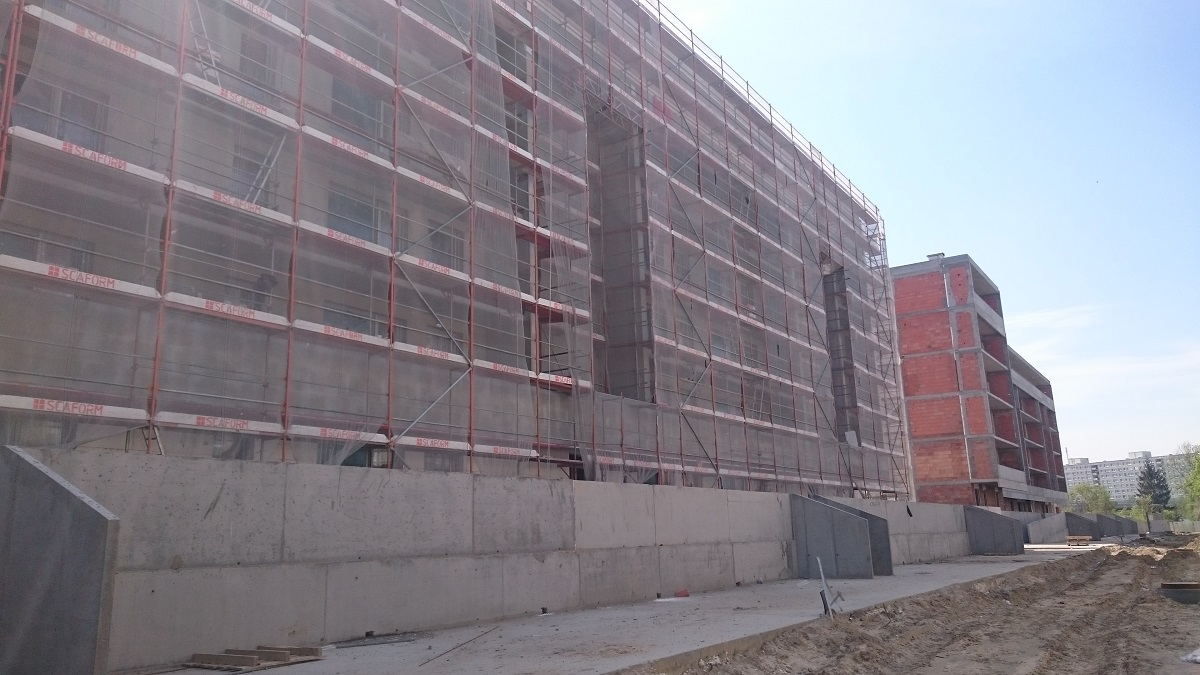 Trwa budowa nowych mieszkań w Poznaniu - Malta Nowa 2 - maj 2017