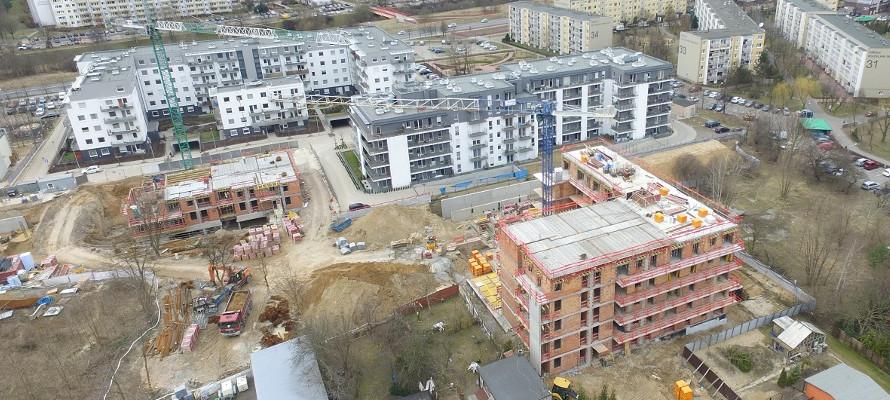 Osiedle Botanika w Poznaniu - budowa kwiecień 2018