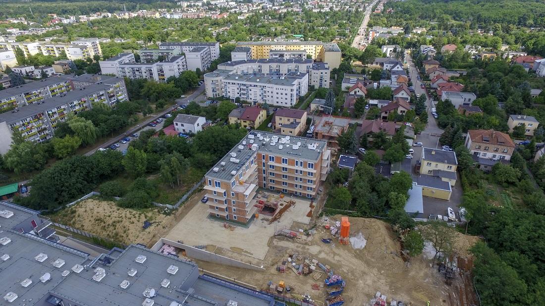 Plac budowy na osiedlu Botanika – nowe mieszkania Poznań