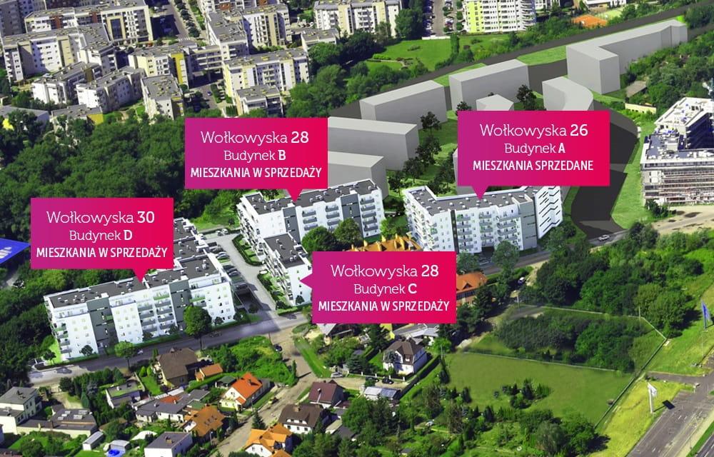 Nowe osiedle Malta Wołkowyska - rozmieszczenie budynków