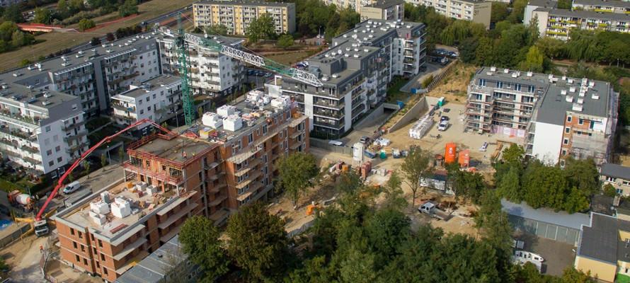 osiedle botanika - budowa - jesień 2018