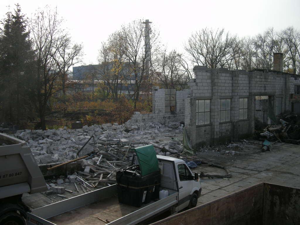 wyburzenie budynku