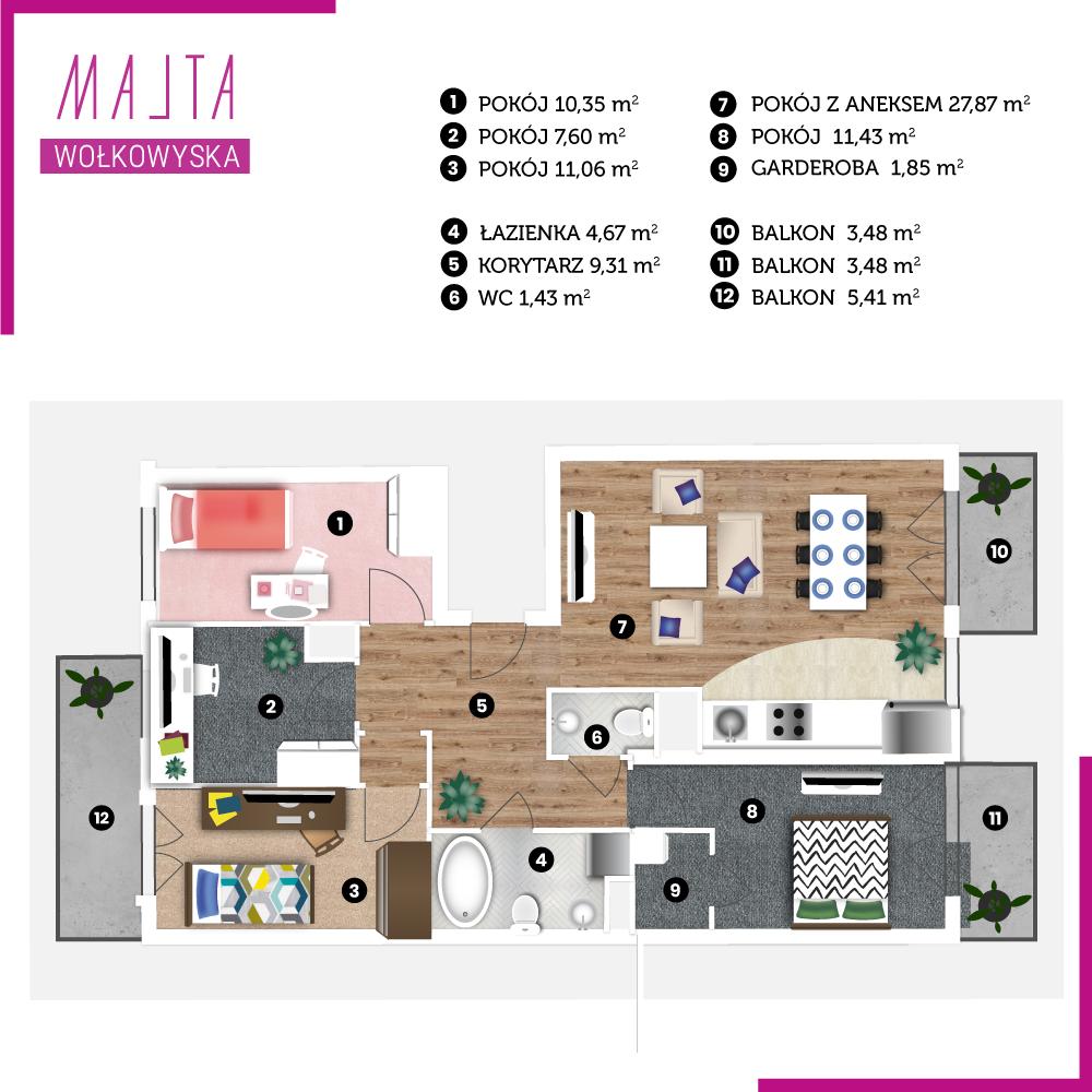 Mieszkanie miesiąca #8 - wizualizacja