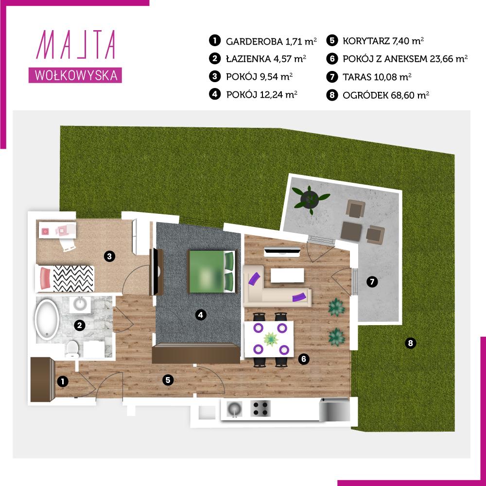 Mieszkanie miesiąca #11 - wizualizacja