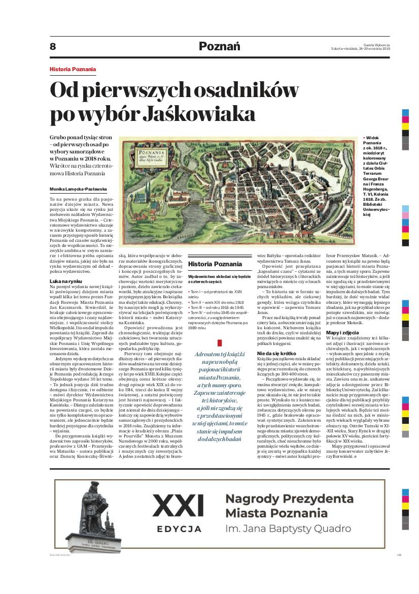 Artykuł w Gazecie Wyborczej - Historia Poznania
