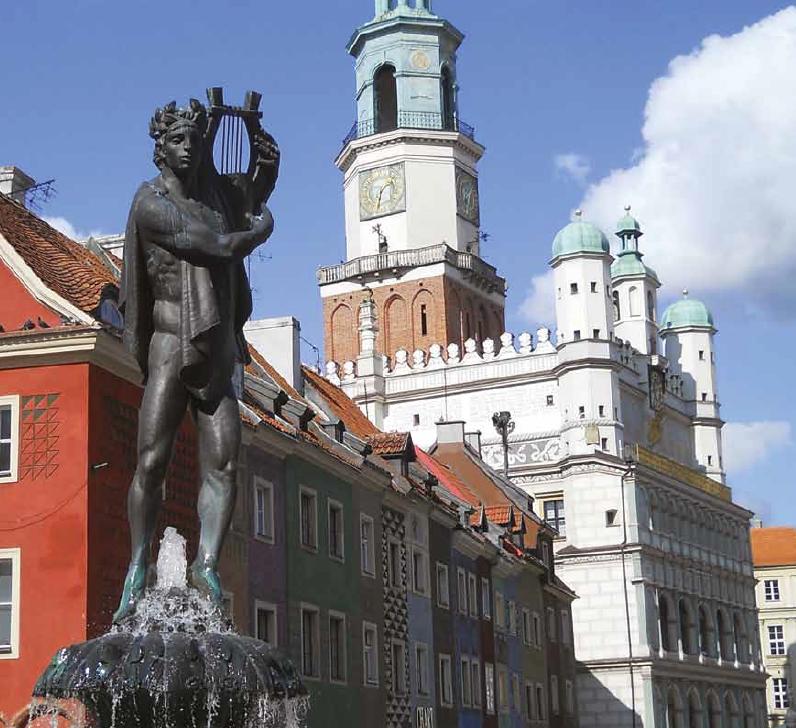 Fontanna Apolla na Starym Rynku w Poznaniu