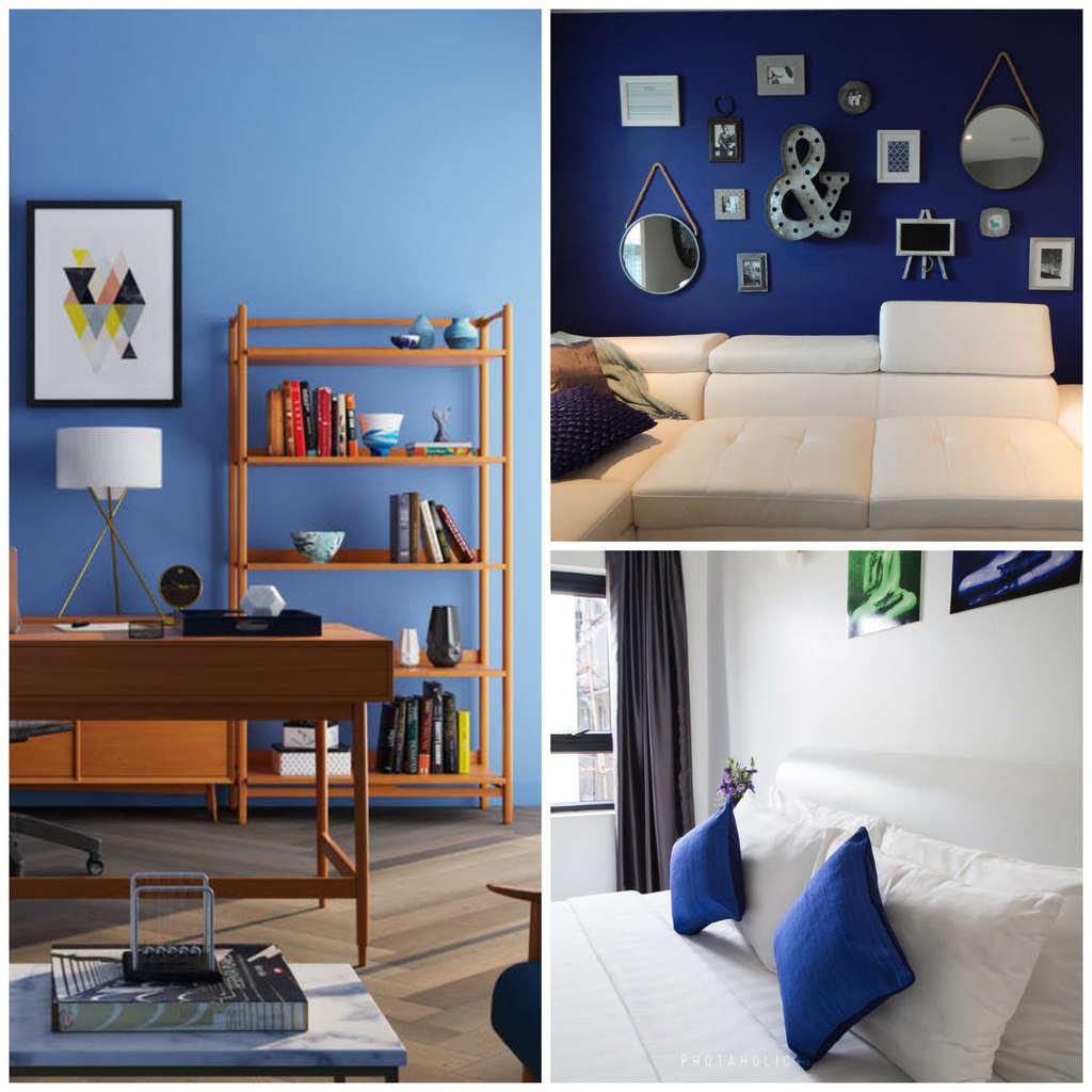 niebieskie ściany