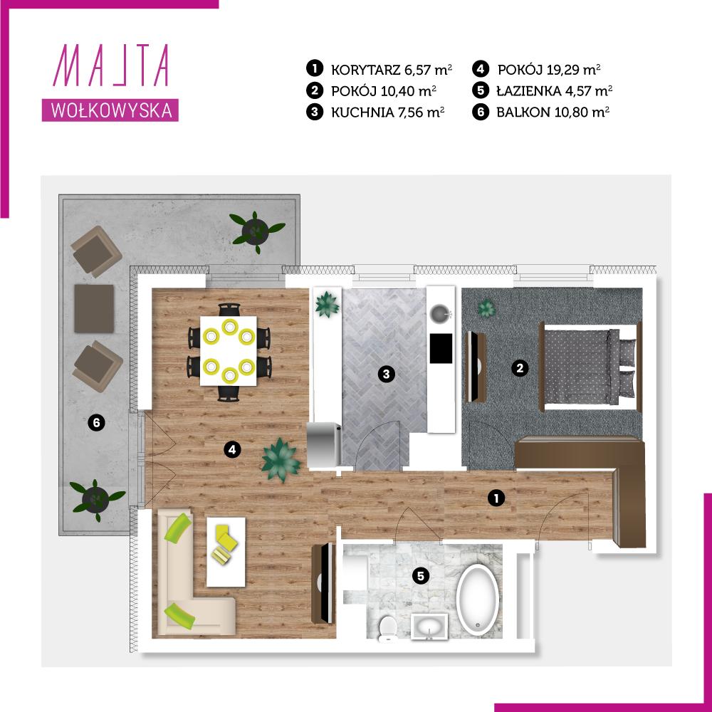 Mieszkanie miesiąca #10 - wizualizacja